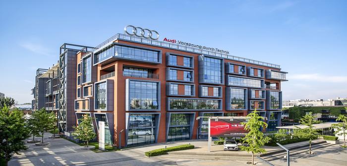 Audi and Huawei autonomous vehicles