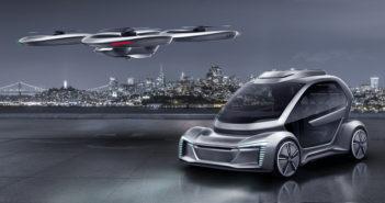 autonomous car and drone