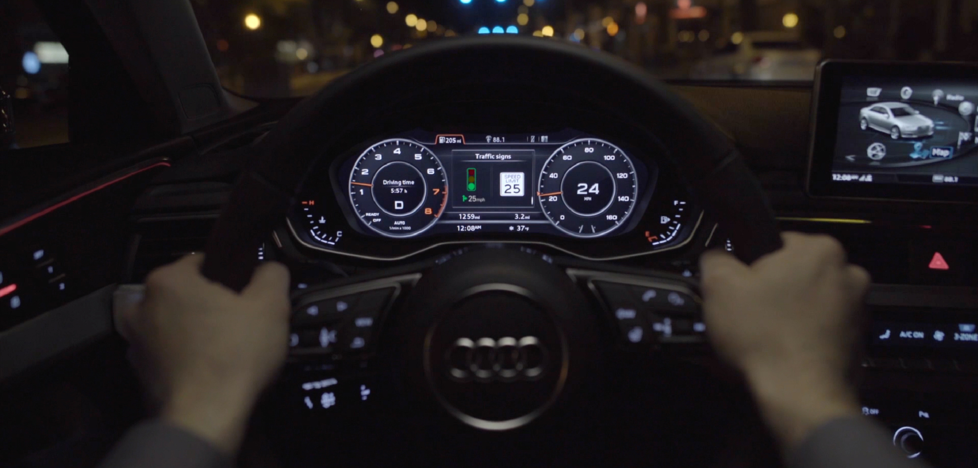 Audi's connected car technology helps drivers avoid red