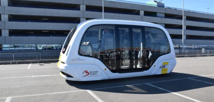 Brussels Airport trials self-driving people mover