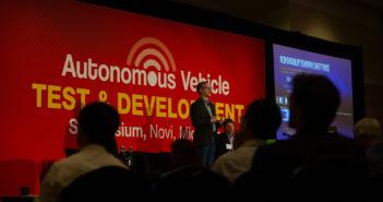 AVTDS Novi 2018 speaker on stage