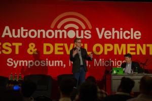 Speaker on stage at AVTDS