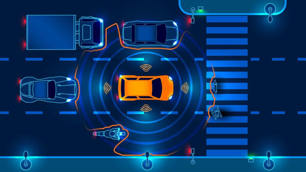 Autonomous vehicle sees things