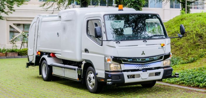 FUSO demonstrates remote garbage truck concept