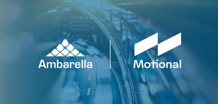 Motional selects Ambarella CVflow AI vision processors for its driverless vehicles